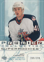 2003-04 UD Premier Collection Blue Jackets Hockey Card #96 Dan Fritsche Rookie