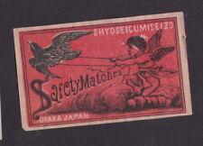 Ancienne   étiquette  allumettes Japon  B40646 Oiseau Ange