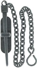 ANTIQUE NICKEL Pin Clasp chain latch lock stake rod door cabinet rustic dowel