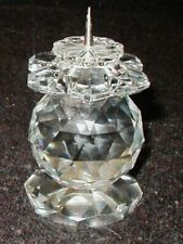 Swarovski Crystal Candle Holder Flower Top Pin Type Marked