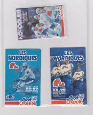 Vintage Official Pocket Schedule QUEBEC NORDIQUES 1982-83 1988-89 1989-90