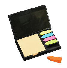 Sticky memo notes holder with index tab flags in PU Padded case