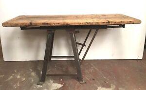 Table industrielle / Console industrielle / table de milieu