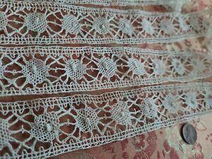 "1.5"" wide Cotton vintage Lace  Trim Torchon BOBBIN  5+ yards insertion"