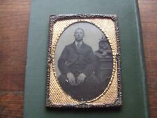 VICTORIAN AMBROTYPE. FAMILY PHOTOGRAPH WITH LARGE GILT FRAME   NICE CONDITION.