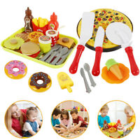 USA/_Child Kitchen Simulation Pizza Party Fast Food Slices Cutting Play Food Toys