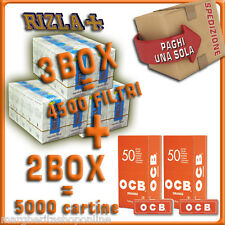 5000 CARTINE OCB ORANGE CORTE=2box + 4500 FILTRI 6MM RIZLA SLIM= 3 BOX