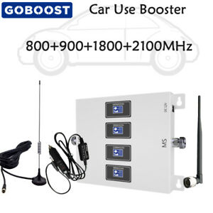 Phone Signal Booster 800/900/1800/2100MHz 2G 3G 4G Mobile Repeater Kit Car Use