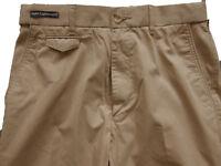 New Mens Marks & Spencer Beige Super Lightweight Chino Trousers Waist 50 46 30