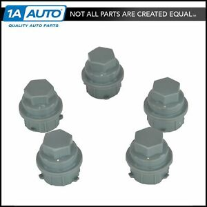 Dorman Gray Lug Nut Caps M24-2.0 x 3mm Kit of 5 for Buick Chevy Pontiac Saturn