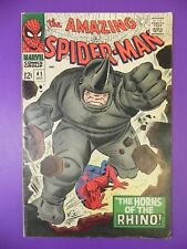 1966 Silver Age Amazing Spider-Man #41 1st Appearance Rhino Rare Hot Key 4.0