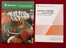 Quasar Microwave Oven Cookbook Insta-Matic Cooking + Owner's Manual MQ7700RW
