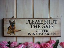 Pastor Alemán Regalo cierra la puerta Signo Signo grueso de madera jardín al aire libre de signos