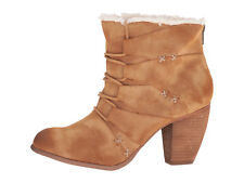 NEW Not rated Primrose Bootie Furry Tan Back Zip Size US 10 M/ EUR 42 NEW