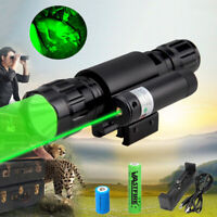 Green LED Flashlight Torch Hunting Varmint Predator Coyote Hog Lamp & Dot Sight