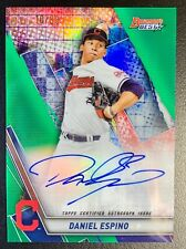 New Listing2019 Bowman's Best Daniel Espino Autograph Rookie Green Refractor Sp /99