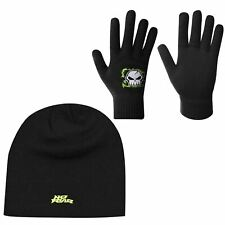 No Fear Kids Boys Hat and Glove Set Junior Winter Knitted
