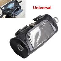 Motorcycle Moped Scooter Handlebar Bag Fork Storage Shoulder Pack w/ Phone Case