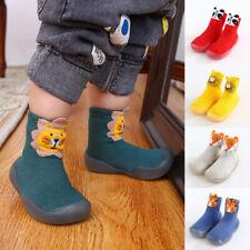 Newborn Baby Unisex Sole Crib Shoes Infant Boy Girl Toddler Anti-Slip Soft Socks