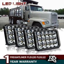 4X LED Sealed Headlights For Freightliner FLD120 FLD112 4''x6'' Light Hi/Lo Beam