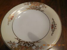 VINTAGE NORITAKE WHITE WITH RAISED GOLD GILD FLOWERS PEDESTAL BERRY BOWL