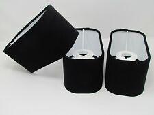 Rounded Rectangle Black Velvet Fabric Lampshade Light Shade
