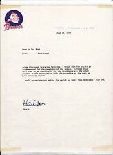 1978 Atlanta Braves Hank Aaron Autograph Original Letter  - Ken Rowe Collection