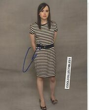 ELLEN PAGE IN PERSON SIGNED 8X10 COLOR PHOTO