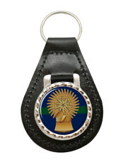 Lothians and Borders Horse Yeomanry, British Army Leather Key Fob