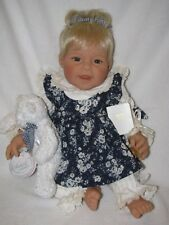 """Darling Nib Lee Middleton Baby Doll """"Teddy Bear Blues"""" By Artist Reva Le1000"""