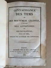 RARE Antique Astronomy 1830 Moon Eclipse Saturn Mars French Celestial Movement