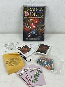 Dragon Dice Starter Set 18 Dice & Pouch SEALED Boxed 1990s Vintage Game N839