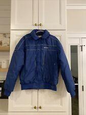 Vintage Snowmobile Ski-doo Blue Bombardier Sportswear Jacket Large Usa