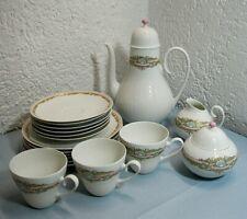 Rosenthal Romanze Bjorn Wiinblad absolut rares Dekor Kaffeeservice-Teile pastell