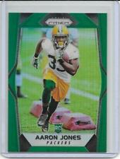 2017 Prizm Football - AARON JONES, Prizm GREEN REFRACTOR ROOKIE Card #228, RARE!