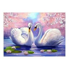 Two White Swans 5D Diamond Painting Embroidery DIY Cross Stitch Home Decor
