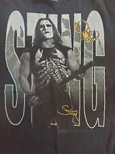 Rare Vintage 90s Sting WCW NWO Portrait T Shirt WWF