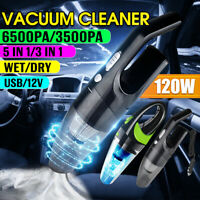 5 IN 1 120W 12V Car Vacuum Cleaner Auto Mini Portable Wet Dry Handheld Duster