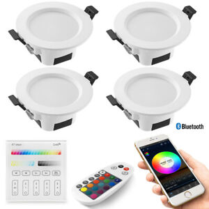 4X RGB+WW+CW+W WIFI/Bluetooth Wall Touch Controller LED Ceiling Lamp Down Lights