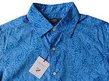 Men's DANIEL CREMIEUX Blue Paisley Cotton Shirt M Medium NWT NEW Nice!