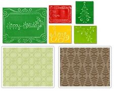 2 Sets Sizzix Textured Impressions Embossing Folders - Christmas