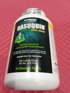 DASUQUIN MSM CHEWABLE TABLETS FOR LARGE  DOGS 60 LBS  AND OVER COUNT OF 84