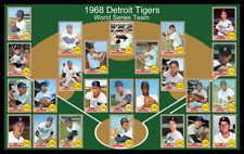 1968 DETROIT TIGERS World Series Poster Man Cave Decor Fan Art Birthday Gift 68