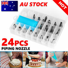 24pcs Nozzle+ Silicone Icing Piping Cream Pastry Bag Set Cake Decorating Tools