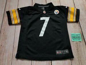 Nike On Field NFL Football Jersey #7 Steelers Roethlisberger Youth Boy Large L❄️