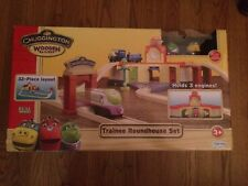 Chuggington Wooden Railway Trainee Roundhouse Set New in Box w/ Koko & Brewster!