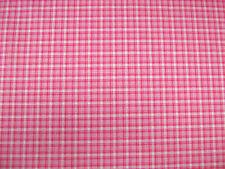 Pink Tartan Check Polycotton Print Craft/Dress Fabric 112cms wide SOLD PER METRE
