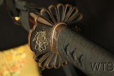 "40.6"" Japanese Folded Clay Tempered Samurai Sword Kuro-Bushi Katana + Silk Bag"