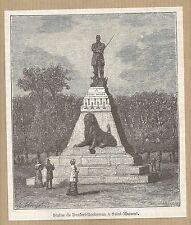 France vue de Denfert-Rochereau à St-Maixent gravure ancienne 1884/ B1MB58