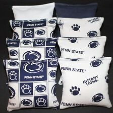 Cornhole Bean Bags made w Penn State Lions University Fabric Aca Regulation